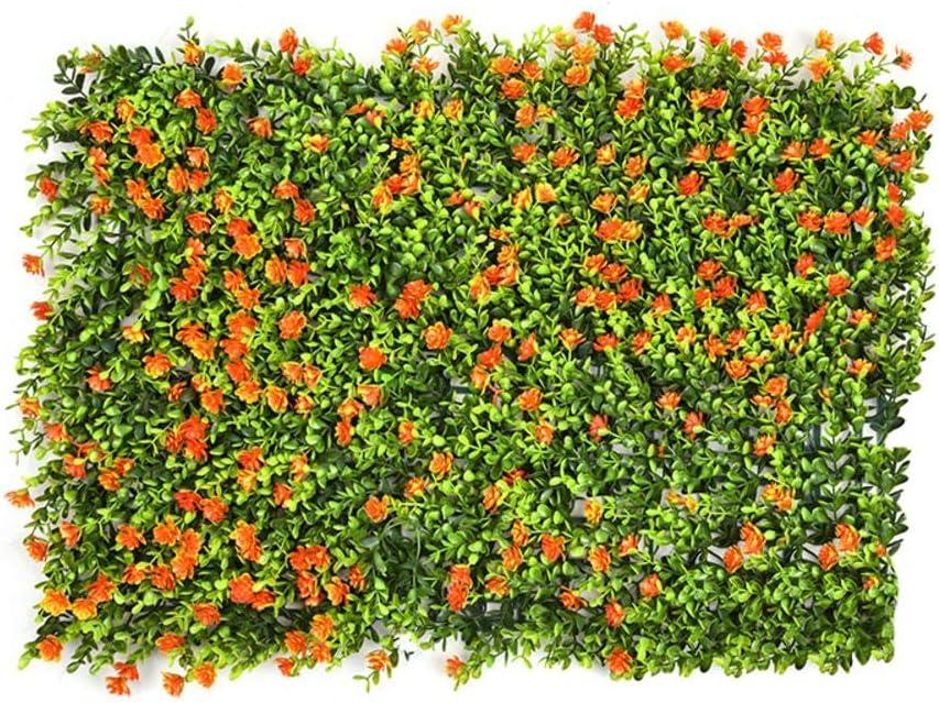 Kitabetty Decoración de césped artificial, Emulational Ivy Leaf Pantalla de plástico para jardín Rollos de pared Paisajismo Falsa planta de césped Decoraciones de fondo de pared, 60 × 40 CM