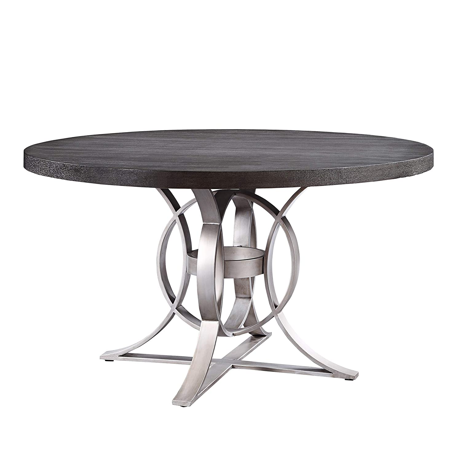 Homelegance Round Dining Table, 53.5 Gray