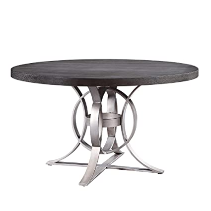 Amazon Com Homelegance 5642 Round Dining Table 53 5 Gray