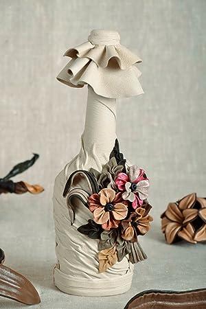 Botella decorativa cubierta con cuero: Amazon.es: Hogar