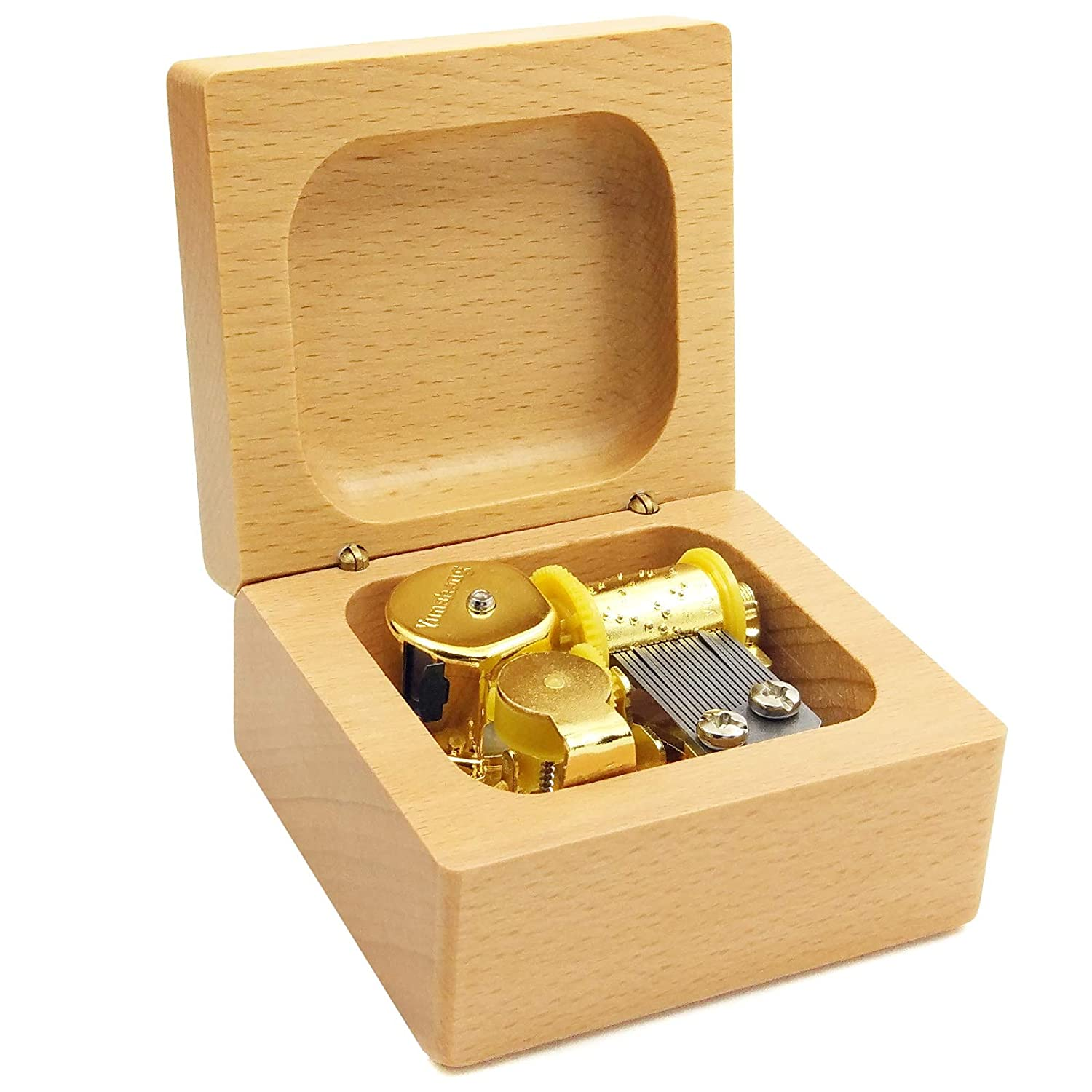 Mini 18 note wind-up Beech Wooden Music Box Tune of You Are My Sunshine For Christmas//Birthday//Valentines day wingostore