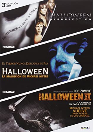 Pack: Halloween Resurrección + Halloween Maldición + Halloween II DVD: Amazon.es: Jamie Lee Curtis, Donald Pleasence, Sheri Moon Zombie, Rick Rosenthal, Dwight H. Little, Rob Zombie, Jamie Lee Curtis, Donald Pleasence: Cine