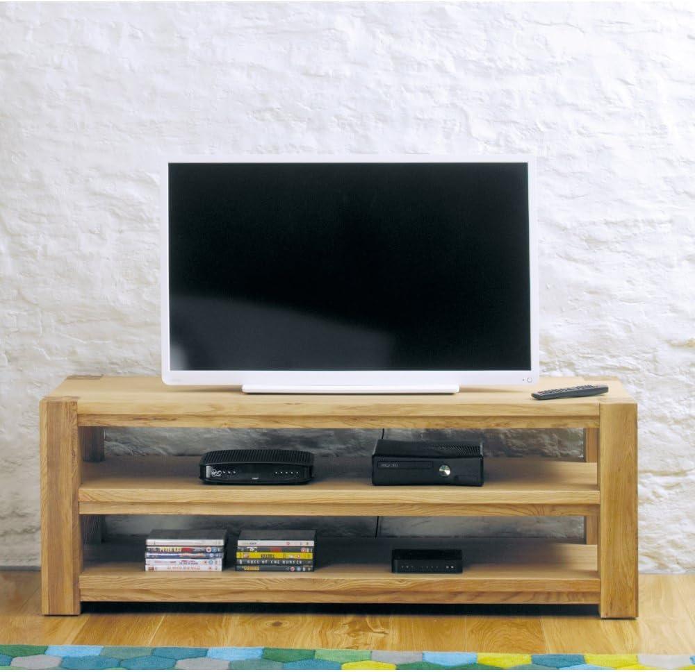 Kendall roble pantalla panorámica abierto mueble de televisión/televisor unidad – totalmente montado: Amazon.es: Hogar