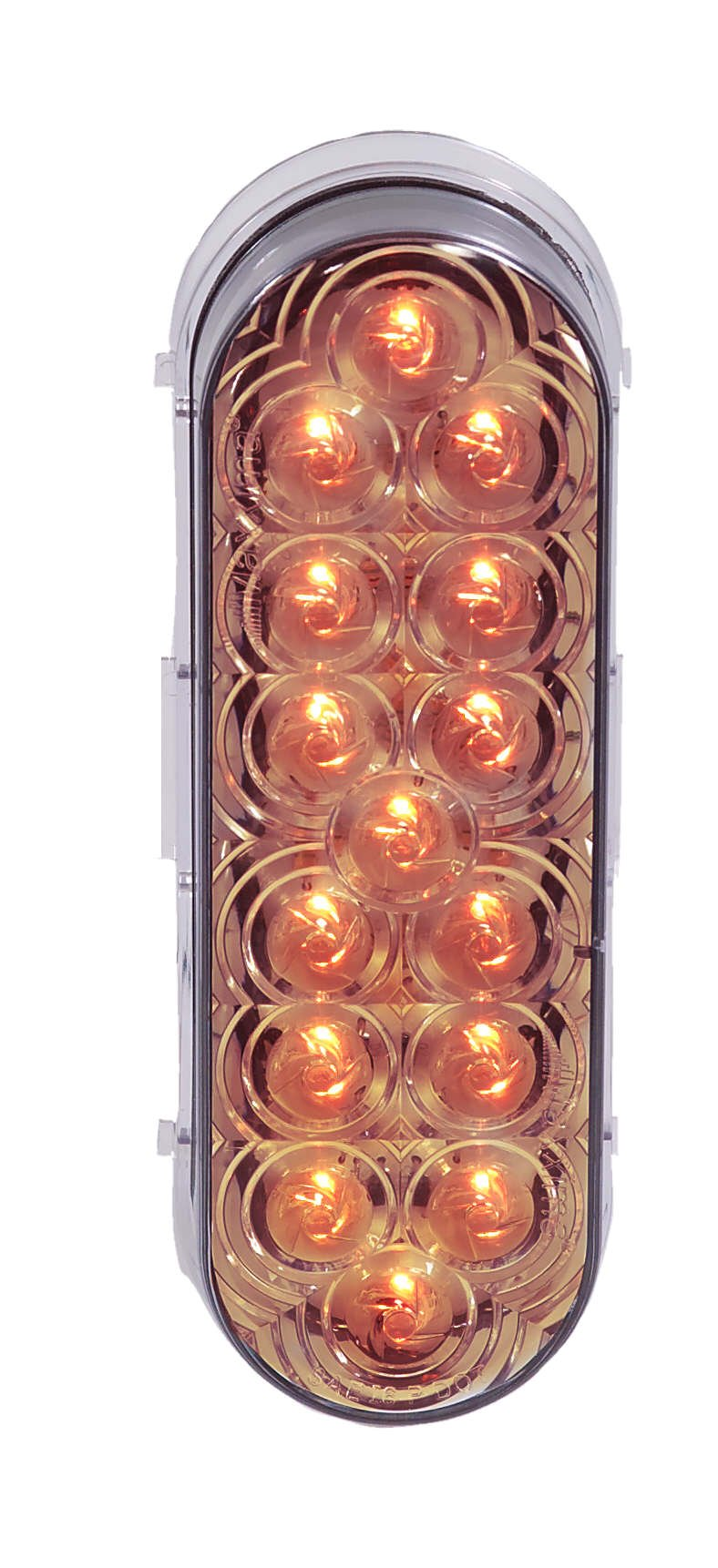 Maxxima M63322YCL 15 LED Amber 6'' Oval Park/Front/Turn Light