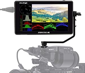 """ANDYCINE C6 6"""" 2600cd/m² HDR/3D Lut 4K HDMI Touchscreen Monitor for DSLR and Mirrorless Camera,Camera Recorders feathures HDMI Input/Output 1920x1080 Panel"""