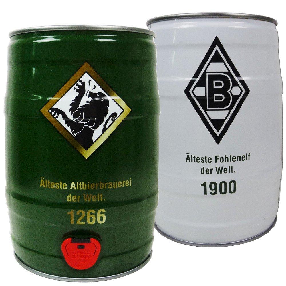 BOLTEN FASS BIERFASS 5 Liter ALTBIER VFL BORUSSIA MÖNCHENGLADBACH ...