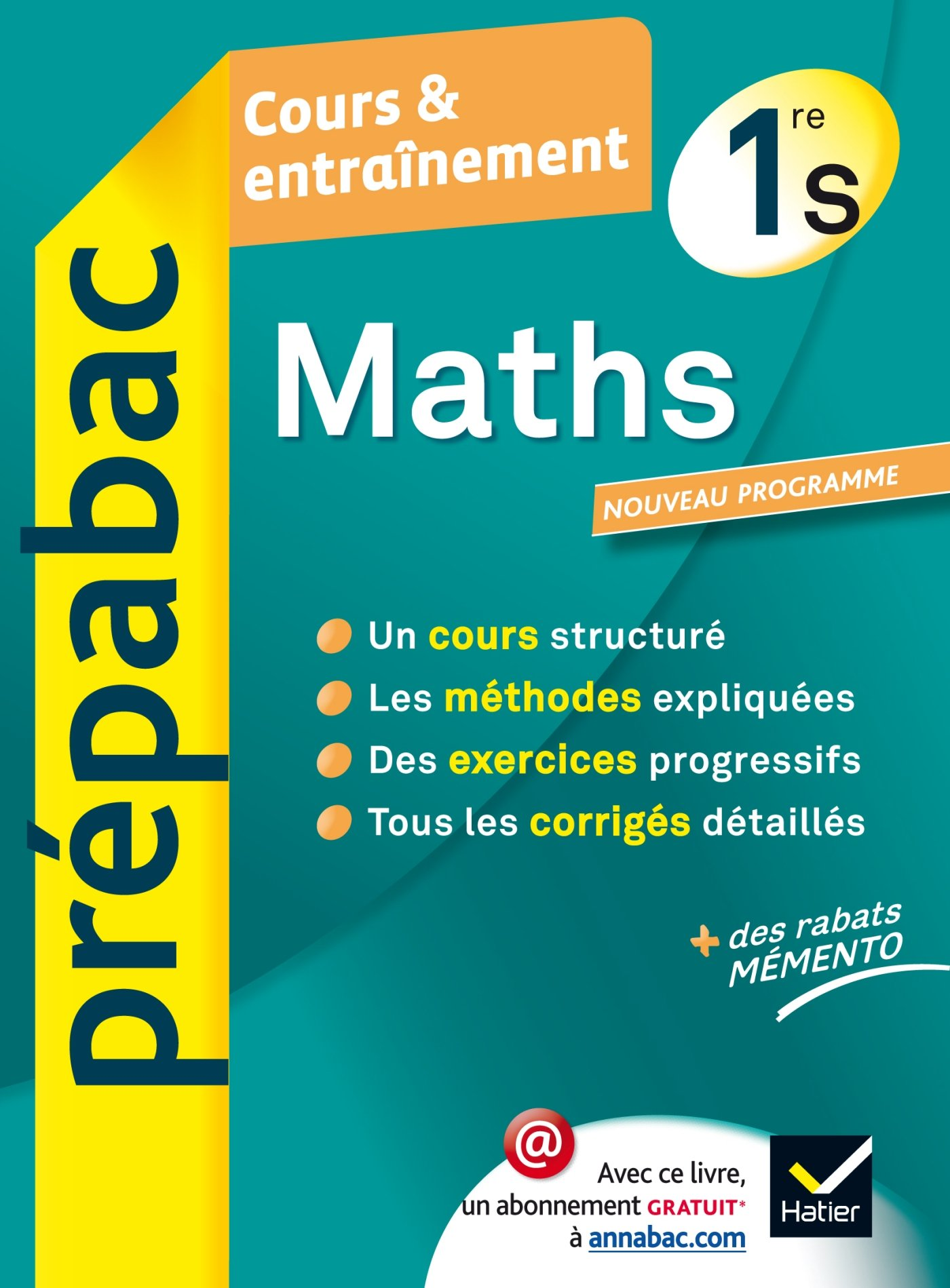 Maths 1re S Prepabac Cours Entrainement Cours Methodes Et Exercices Premiere S Amazon Fr Picchiottino Jean Dominique Denis Girard Annick Meyer Livres