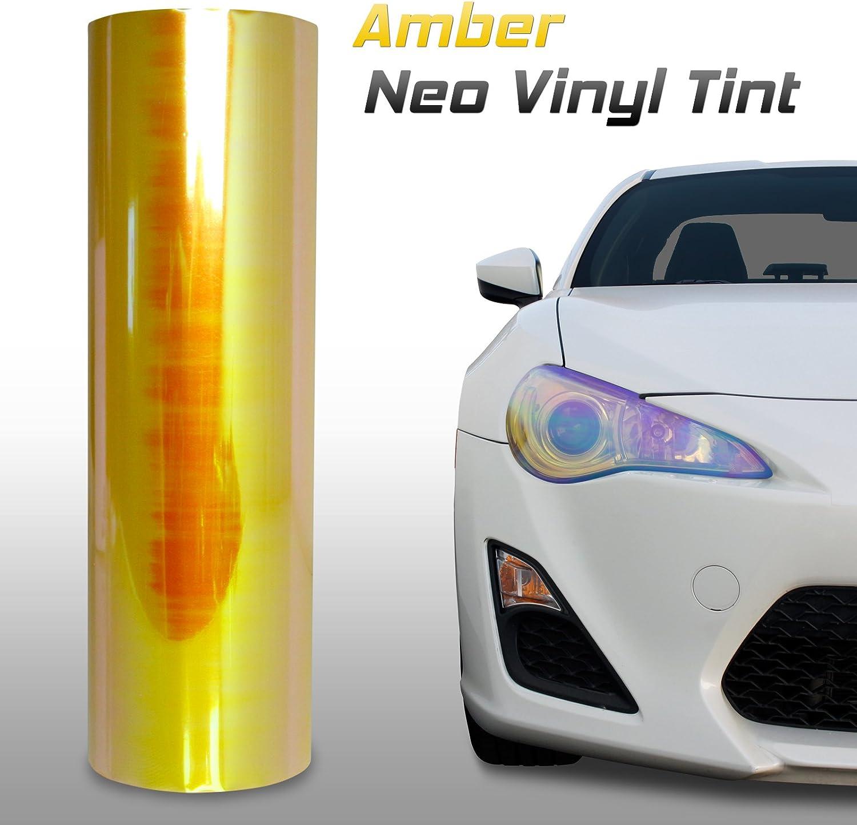 Optix Chameleon Neo Chrome Headlight Fog Light Taillight Vinyl Tint Film Amber 12x24 in 1x2 Ft