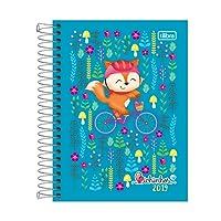 Tilibra 129291 Agenda 2019, 12 Meses, Planeador Diario, Colección Bichinhos, 11.5 x 16.5 cm