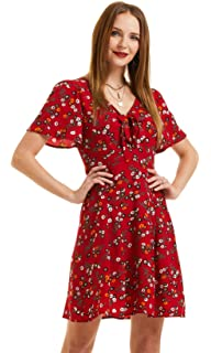 Sunywear Women Cotton V Neck Short Sleeve Solid Butterfly Sleeve T-Shirt S-5XL Light Pink