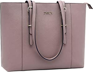 Laptop Tote,15.6 Inch Laptop Tote Bag Work Totes Large Shoulder Bags Elegant Purse Ladies Briefcase with Padded Laptop Compartment,Lilac