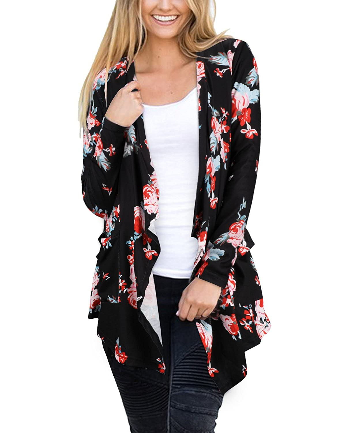 Soft and Comfortable The cardigan goes with different tops or dresses.Can  be worn casual or slightly dressy. Bust (S)33.1-35.4 inches b0f1db03e