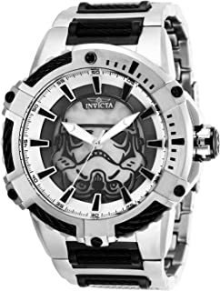 Invicta Mens Star Wars Automatic Stainless Steel Watch, Color:Black (Model