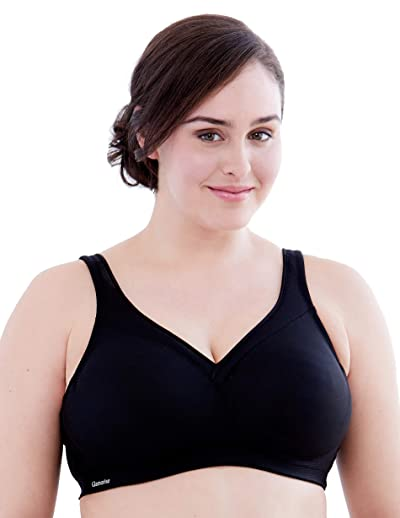 Glamorise Women's Full Figure MagicLift Plus Size Seamless Wirefree Back Close Sports Bra #1006