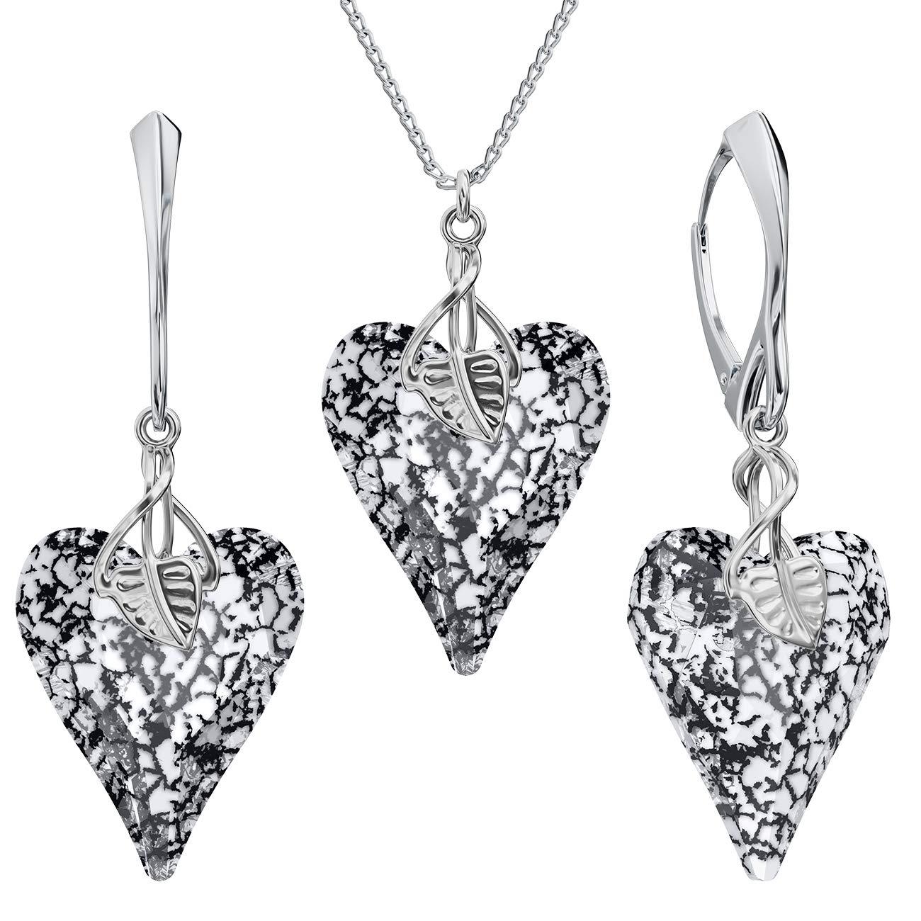 Couleurs variantes Schmuckanthony Parure de bijoux en argent 925 avec cristaux Swarovski pour femme avec coffret cadeau PIN//75 Parure de bijoux Motif c/œur Beforya Paris**