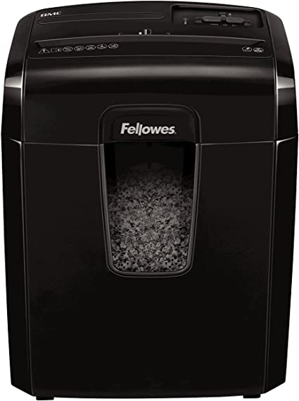 Oferta amazon: Fellowes 8Mc - Destructora trituradora de papel, minicorte, destruye hasta 8 hojas, uso personal, tritura tarjetas de crédito, color negro