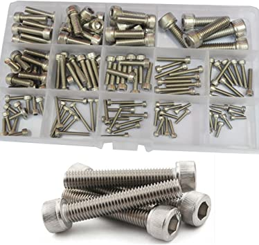 1080Pcs Assorted Metric Stainless Steel Hex Head Screw Bolts Nuts Refill Pack