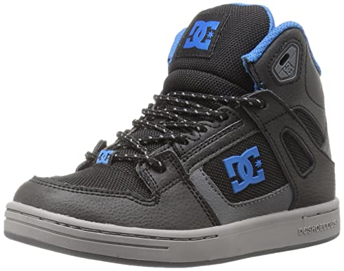 Zapatillas de skate para ni?os con rebote SE, negro / gris / azul, 4,5 M US Big Kid: Amazon.es: Zapatos y complementos
