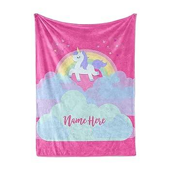 Amazon.com: Manta personalizada de unicornio arco iris ...
