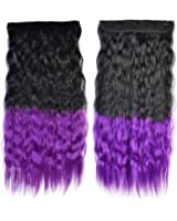 Wig Dyed Corn Hot Five Cards Hair Extension black to violet