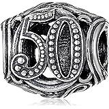 Chamilia Sterling Silver 50 Milestone Bead Charm