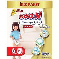 Goon Premium Soft Külot Bez, 6 Beden, İkiz Paket, 13 Adet, Beyaz