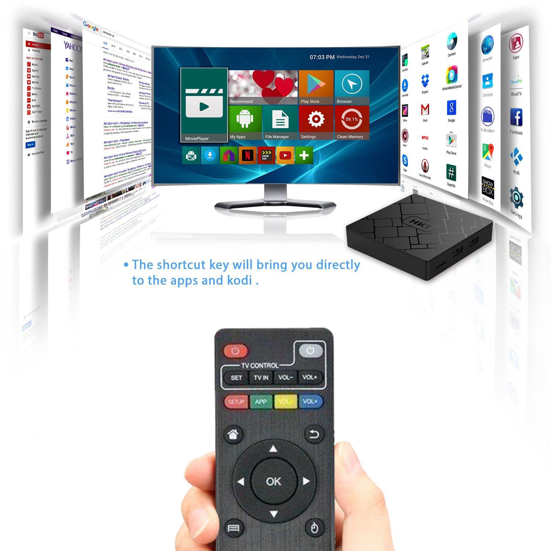 [Free Wireless Keyboard] 2018 J-Deal 4K 7 1 Android TV Box, 2GB RAM 16GB  ROM, Amlogic Quad Core A53 Processor 64 Bits, 2 4GHz WiFi Smart TV Box,  HDMI
