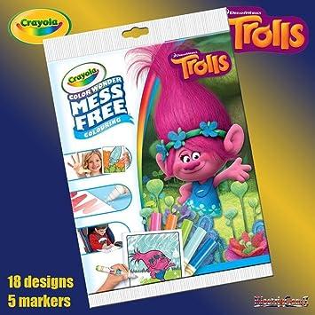 B-Creative Crayola Disney Trolls Color Wonder Mess Free Magic ...