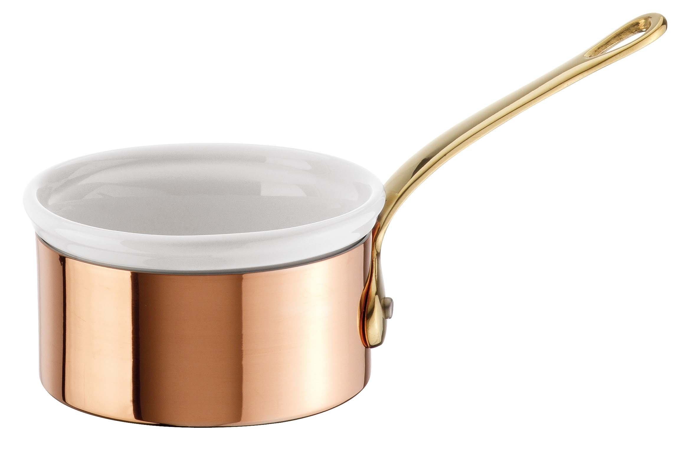 Paderno World Cuisine Mini Copper-Tin Butter Warmer with Porcelain Insert by Paderno World Cuisine