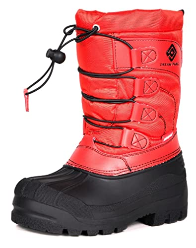 f964e6ec491 DREAM PAIRS Toddler Knorth Red Isulated Fur Winter Waterproof Snow Boots  Size 9 M US Toddler