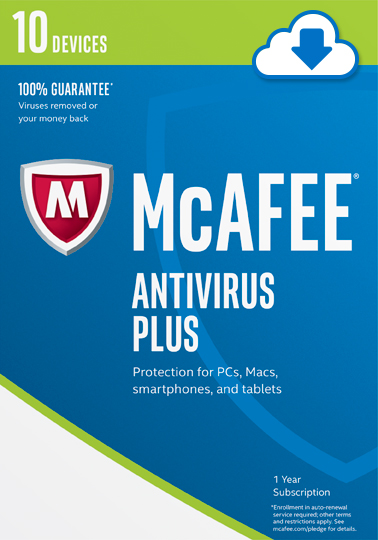 Mcafee 2017 Antivirus Plus 10 Devices  Online Code