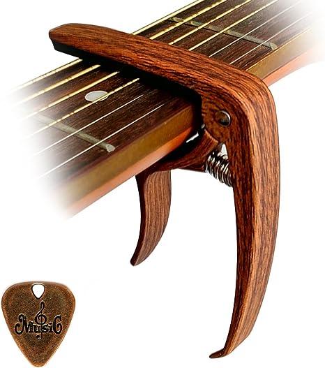 Cantus guitarra cejilla aleación de zinc color de madera con Pin ...