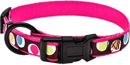 Mile High Life Soft Smooth Fabric Dog Collar Small//Medium//Large Cute Patterns 6 Colors 3 Sizes