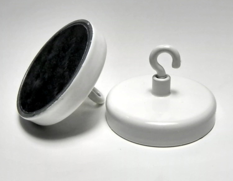 Magnethaken 40mm, weiß , 10 Stü ck Hajo-Fix