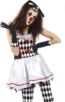 NonEcho kit de disfraz para mujer de payaso arlequín, peluca de ...