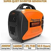 Paxcess P2000i 2000 Watt Gasoline Inverter Generator with Eco-Mode (Orange)
