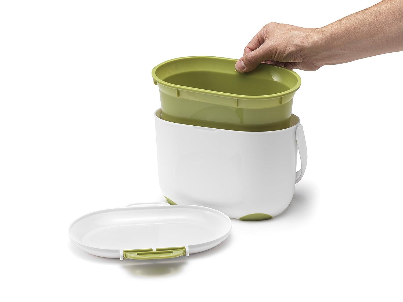 Amazon.com: Addis 2.5 Litre Kitchen Compost Caddy, White/Green: Home ...