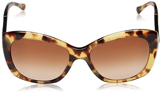 BURBERRY Damen BE 4164 Schmetterling Sonnenbrille, 327813, Light Havana, Brown Grad