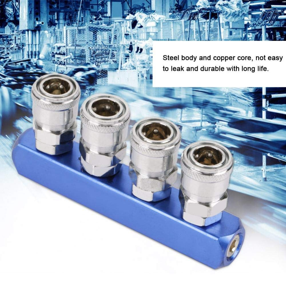 12mm Raccord Rapide Pneumatique Connecteur Filetage Femelle /à Montage /2//3//4//5 Voie pour Connexion Pneumatiques et Tuyau dAir 3 voie