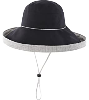 bfce42bd Home Prefer Women's Cotton Fold up Wide Brim Sun Bucket Hat UPF50 Beach Sun  Hat
