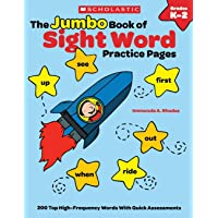 Image for The Jumbo Book of Sight Word Practice Pages: 200 Top High-Frequency Words With Quick Assessments (Learning Express)