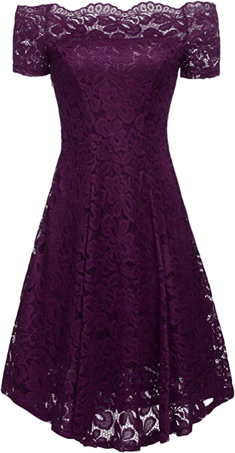 Amazon.com: ACEVOG vestido de noche, formal, de hombro ...