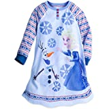 Disney Frozen Long Sleeve Nightshirt for Girls Blue