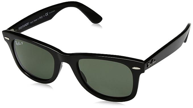 Ray-Ban Wayfarer Gafas de sol, Rectangulares, Polarizadas, 50, Black: Amazon.es: Ropa y accesorios