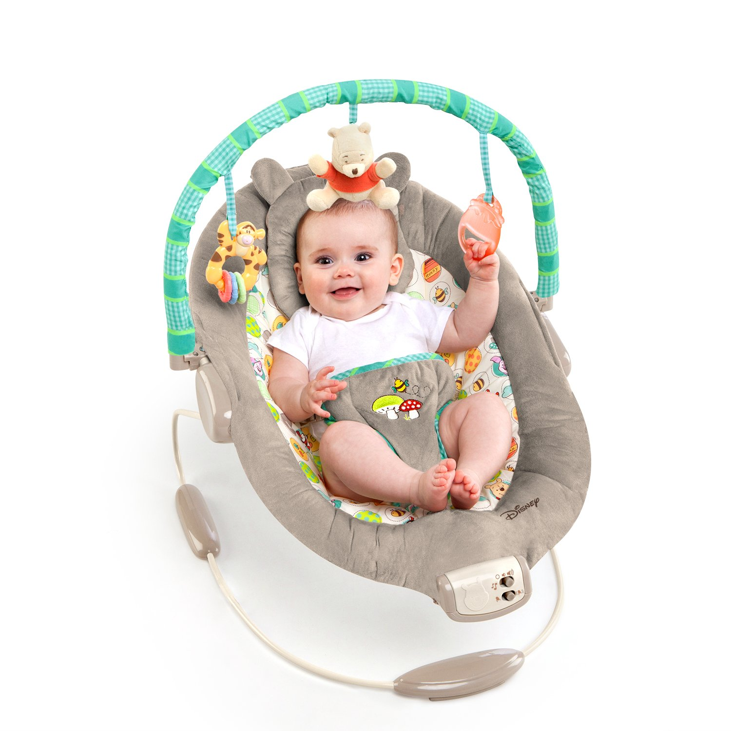 $39.99 (was $52.99) Disney Baby Winnie The Pooh Bouncer, Dots and Hunny Pots