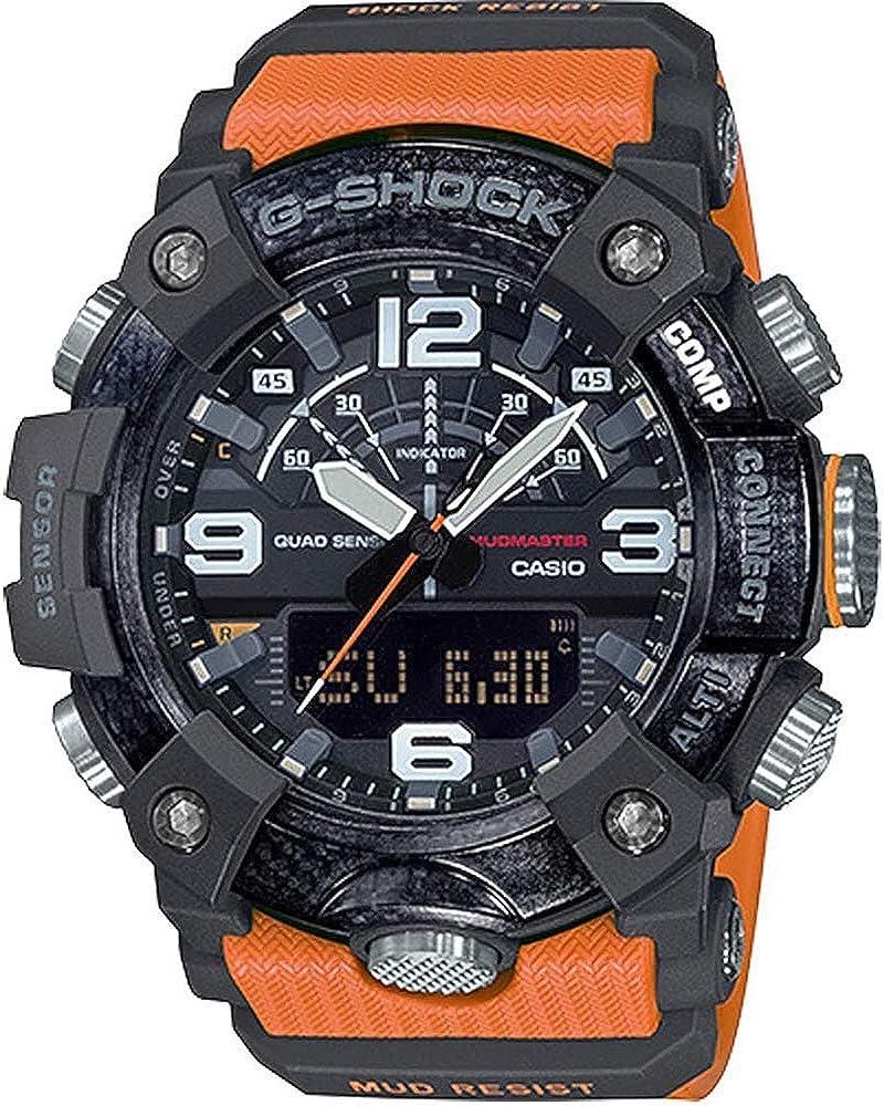 Casio GGB100-1A9 Mudmaster Men's Watch Orange 55.4mm Carbon/Resin