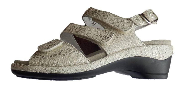 Semler Sandalette Sandalen OffWeiß Weite Weite Weite H Schlange Leder - b644e5
