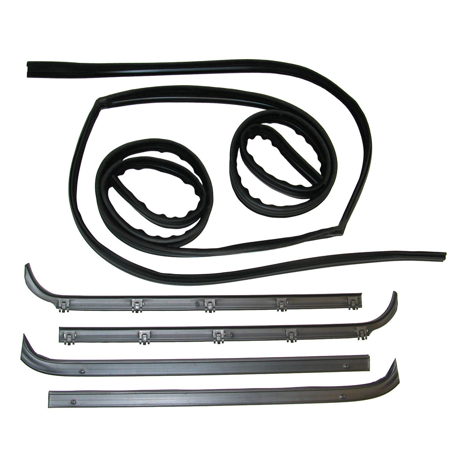 Make Auto Parts Manufacturing - Set of 6 Window Sweep & Run Channel Weatherstrip Seals Kit for Bronco 80-86