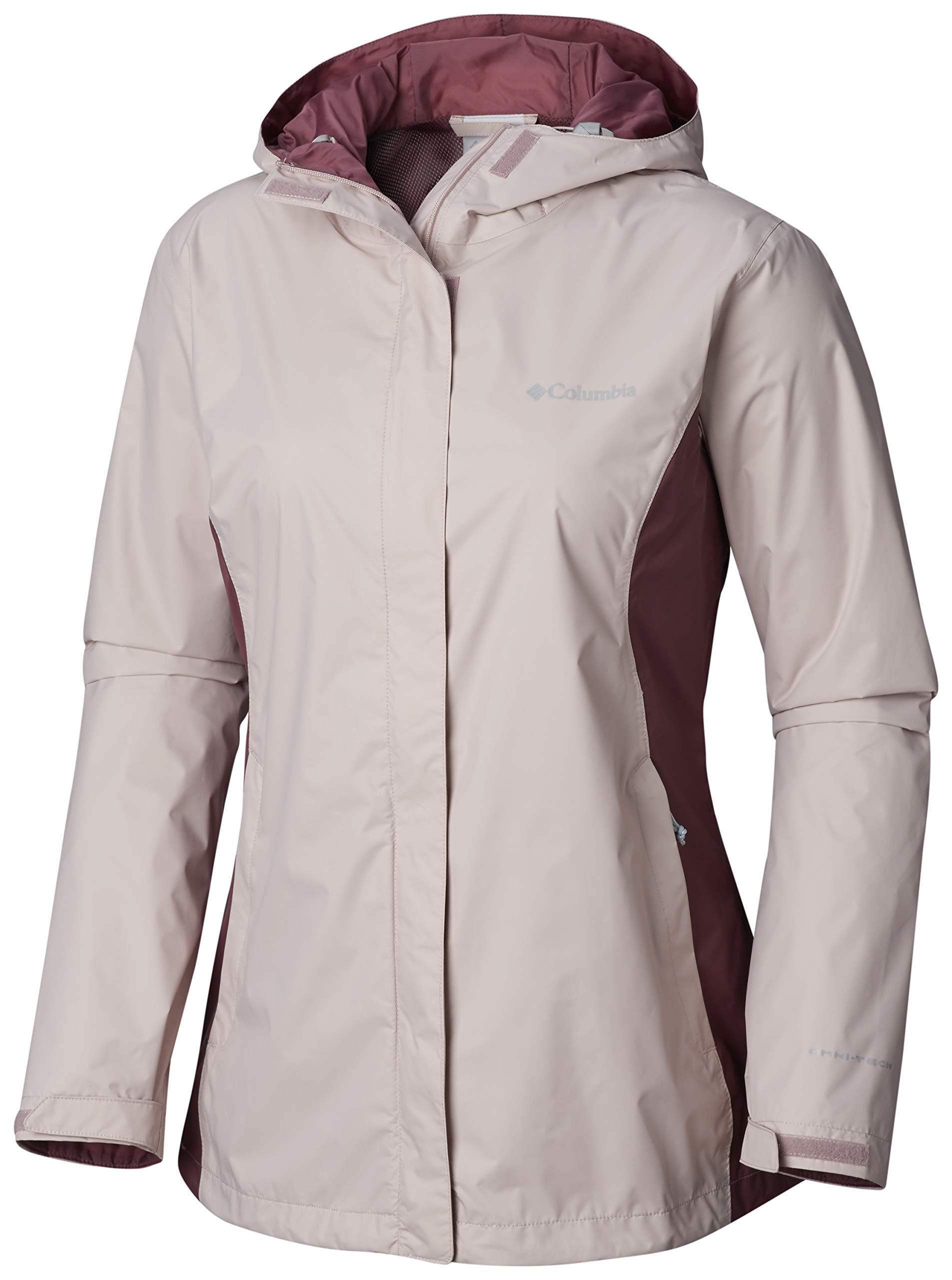 Columbia Women's Plus Size Arcadia II Jacket, Mineral Pink/Antique Mauve X-Large