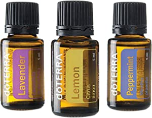 doTERRA - Beginner's Trio Essential Oils - Lavender, Lemon, and Peppermint